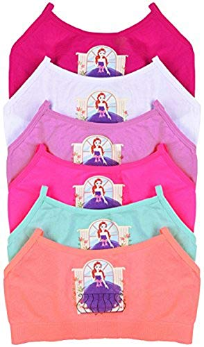- ToBeInStyle Girls' Pack of 6 Balcony Girl Print Seamless Training Bras - M