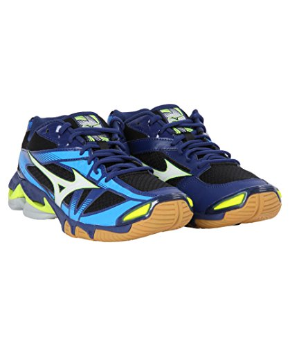 Bleu Noir Bolt ball Volley De Hommes Pour Wave Blanc Chaussures Mizuno 6qp4xZvw