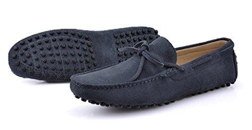 ... Crc Menns Casual Stil Rund Tå Fashion Walking-trening Kjøre Loafers  Skinn Doug Sko Grå