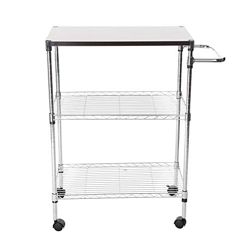 Tronet Kitchenware 4-Shelf Storage Rack Microwave Oven Holder Wheeled Trolley [Ship from USA Directly] by Tronet (Image #1)