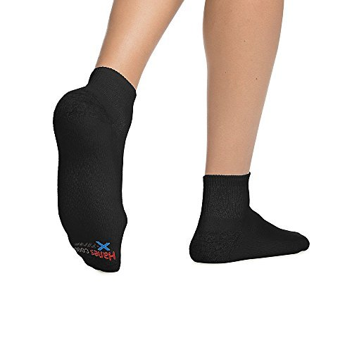 Hanes Men's X-Temp Comfort Cool Ankle 6-Pack_Black_6-12 ()