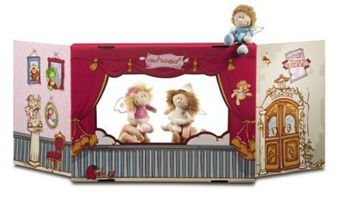 Nici 30949 - Set Fingerpuppentheater m. Leon, Lea u. Emily Fantasietiere Figurentheater und Zubehör