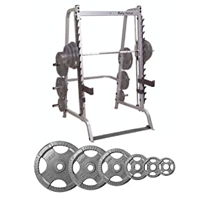 Body Solid Series 7 Smith Machine with 255 lb Olympic Set