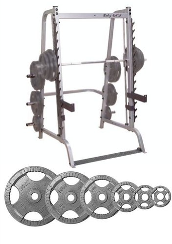 Body Solid Series 7 Smith Machine with 255 lb Olympic Set by Body Solid
