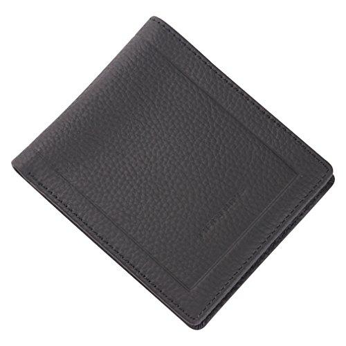 Genuine Leather Wallets, Harrms Slim Business Travel Front Pocket Wallet for Men