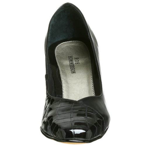 Kid Patent Pump Ros Dress Black Croc Women's Cynthia Hommerson AfqP0ZY