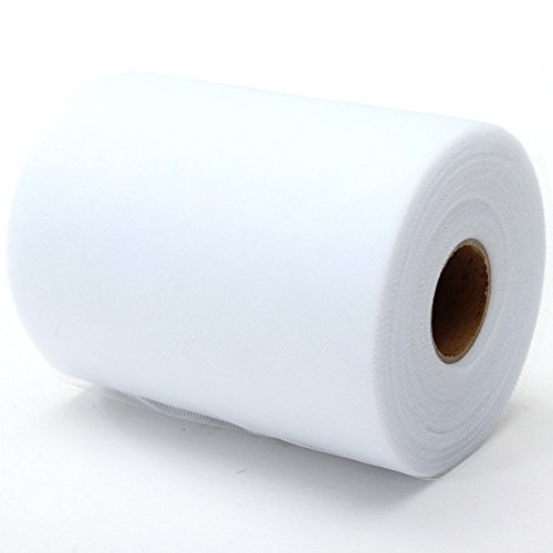 ROSENICE Tulle Roll Spool DIY Netting Fabric for Wedding Craft Favor Decor 6''x100YD White by ROSENICE