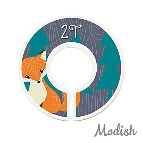 Boy Young Child Size Dividers Woodland Hedgehog Owl Closet Organizers Bear Modish Labels Toddler Child Closet Dividers Fox Toddler//Child Toddler Size Dividers