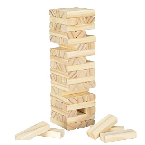 Table Top Tumbling Tower Wooden Block Wobble Stacking Game (Commercial Wooden Table Tops compare prices)
