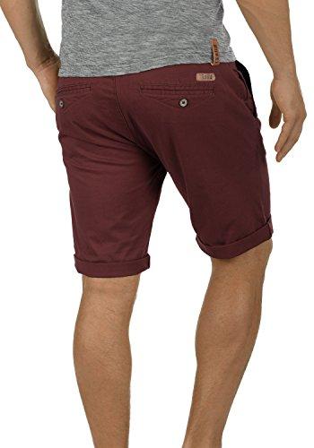 solid Red Bermuda Tela Con Para Chino Pantalones Montijo Hombre De Corto Elástico Pantalón 0985 Cinturón Wine Regular fit rSRxUraw