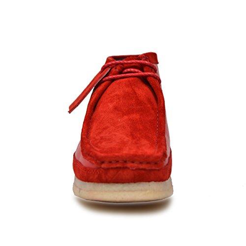Britannico Escursionisti Collezione Uomo Pelle E Camoscio Pizzo Di Colore Rosso / Rosso