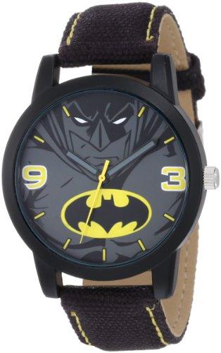Batman Kids' BAT9040 Batman Black Canvas Strap ()