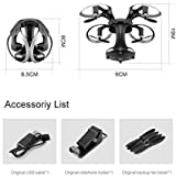 Bubile Utoghter Foldable Drone, 2.4G WIFI 0.3MP Camera FPV RC Ball Shaped Quadcopter- black