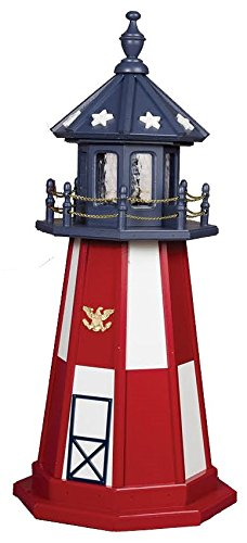 Poly Patriotic #2 Lighthouse 6' High