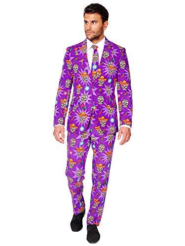 OppoSuits Halloween Costumes for Men - El Muerto - Full Suit: Includes Jacket, Pants and Tie - ()