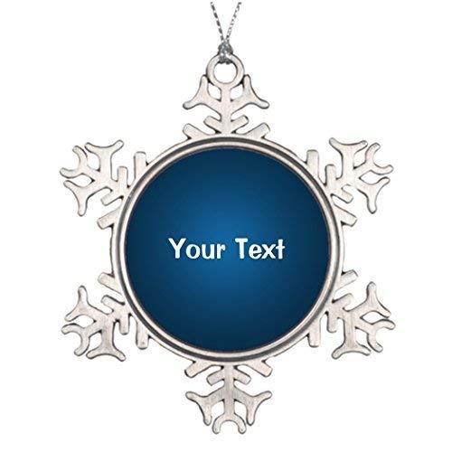 (Acove Custom Template Xmas Trees Decorated Christmas Snowflake Ornaments 3 inch)