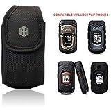 AH Universal Vertical Nylon FLIP Cell Phone Cases Clip Holster Holder Nylon Belt Case Flip Phone Pouch Hip Belt Loop Case Cov