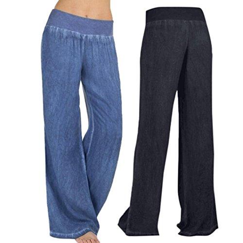 Pervobs Women Pants, Big Promotion! Women Casual Harem High Waist Elasticity Denim Wide Leg Palazzo Pants Jeans Trousers