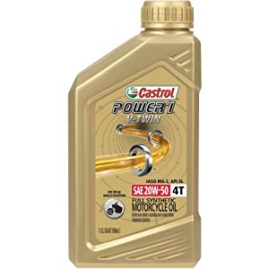 Castrol Power RS V-Twin 20W-50 Full Synthetic 4-Stroke Motorcycle Oil (06116)