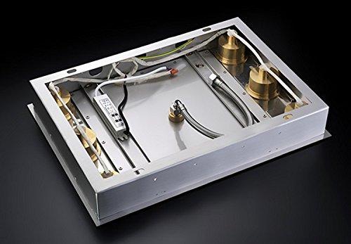 Gowe luxury polished shower set rainfall bathroom rectangular 500360mm led rainfall shower head set 2