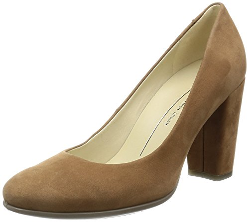 ECCO Women's Women's Shape 75 Block Heel Dress Pump, Camel, 37 EU/6-6.5 M US