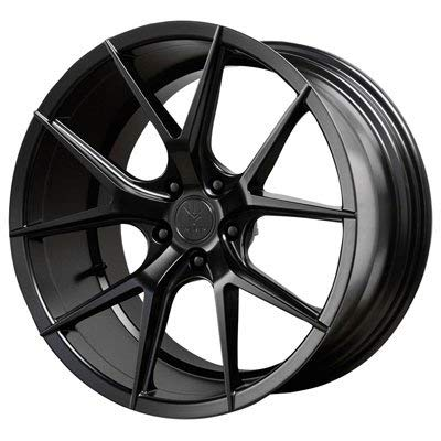 Verde Custom Wheels Axis Satin Black Wheel with Painted Finish (19 x 8.5 inches /5 x 112 mm, 30 mm Offset)