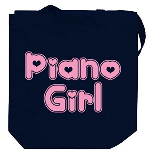 Piano girl Canvas Tote Bag