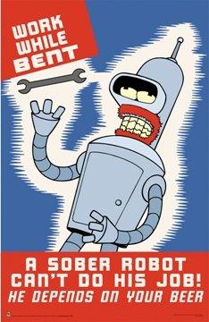 Futurama Bender Robot TV Poster 1373