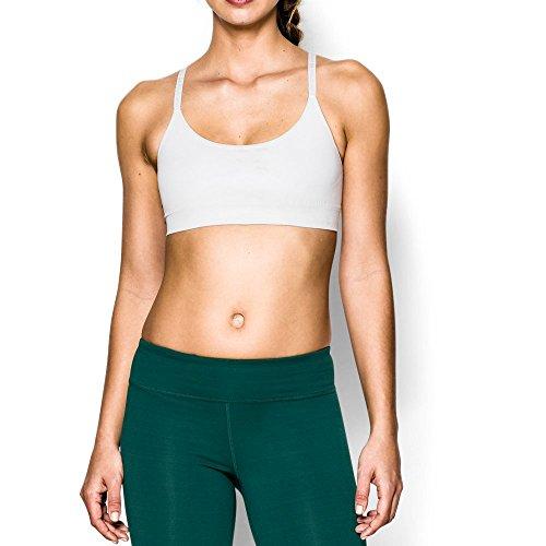 Under Armour Women's Seamless Essential Bra, White/White, Medium