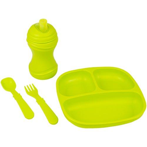 Re Play Divided Plate Utensil Toddler