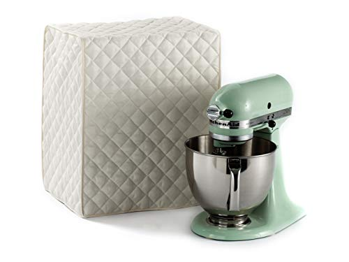 Covermates – Mixer Cover – 14W x 9D x 14H – Quilted Diamond Collection – 2 YR Warranty – Dust Protection – Washable – Cream