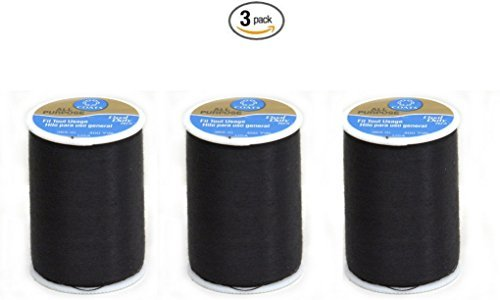 Coats & Clark Dual Duty All-Purpose Thread 400 Yds: Black (ONE spool of yarn) (3)