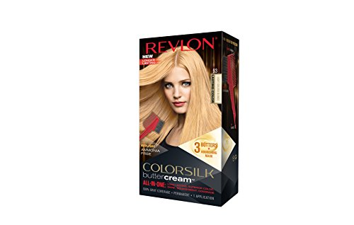 Revlon Colorsilk Buttercream Hair Dye, Light Golden Blonde, 1 Count