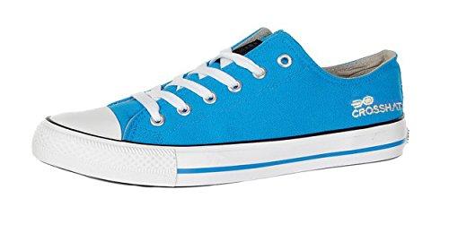 Hombre Pilmsoll Zapatillas Crosshatch De Lona Casual Cordones Diseñador Corte Bajo Zapatos Azul Directorio