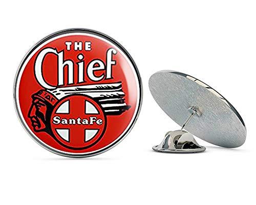 NYC Jewelers Round Red The Chief Santa Fe Railroad (rr Railway Rail Logo) Metal 0.75