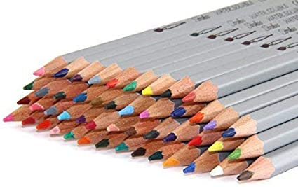 Strokes Art 48 Piece Artist Grade High Quality Watercolor Water Soluble Colored