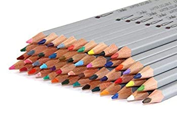 Strokes Art 48 Piece Artist Grade High-Quality Watercolor Water Soluble Colored Pencil Set