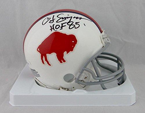 Buffalo Bills Autographed Helmets (O. J. Simpson Autographed Buffalo Bills 65-73 TB Mini Helmet W/ HOF- JSA W Auth)