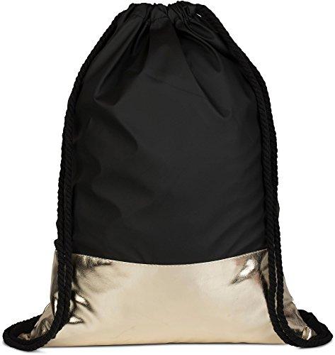 styleBREAKER - Bolso cruzados para mujer dorado - Schwarz / Gold talla única - Schwarz / Gold