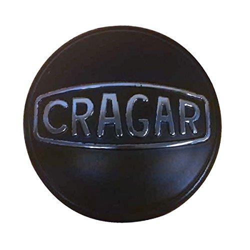 Cragar Closed Center Cap with Logo, Black - Sold Individually