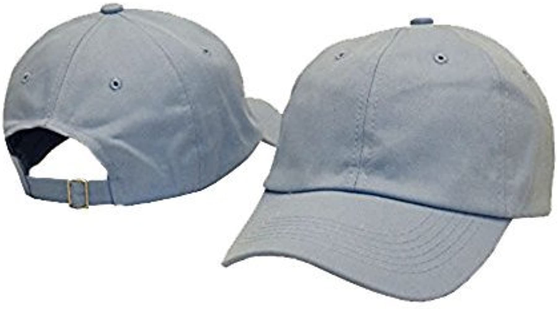 90908230 GEANBAYE Classical Low Profile Adjustable Strapback Blank 100% Cotton Dad  Hats Baseball Caps Man Women(Azure) at Amazon Men's Clothing store: