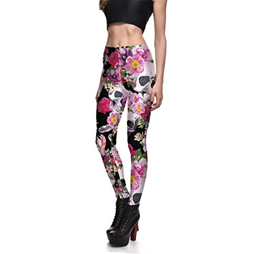 Adorable Funky print skull leggings!