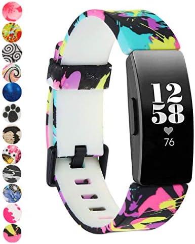 Tkasing Soft TPU Bands CompatibleFitbit Inspire HR/Fitbit Inspire Wristbands Sports Waterproof Wristbands for Fitbit Inspire HR for Women Men