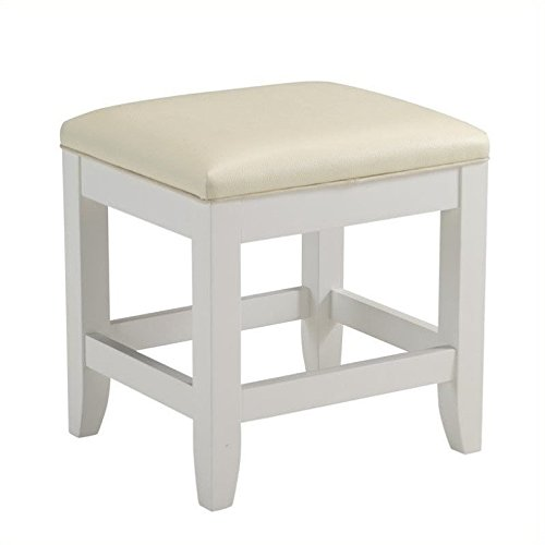 home styles naples vanity bench white finish
