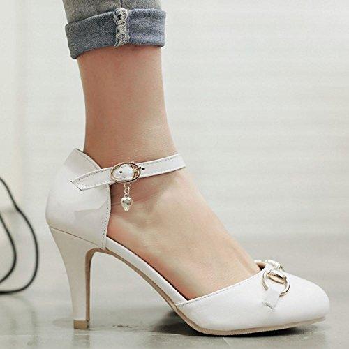 Donna Zanpa Tacco White Medio Sandali Sweet 8q7xdzZ7w