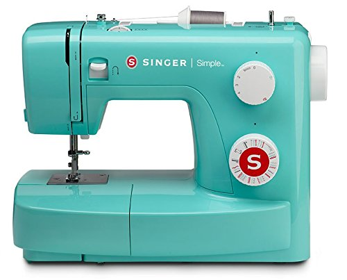 Buttonhole Fabric (SINGER 3223G Handy Sewing Machine, With 13 Built-In Stitches - 4 Fully Automatic 1-step Buttonhole,7 Stretch Stitches, 9 Decorative Stitches and 6 Basic Stitches, Petrol)
