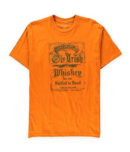Ptshirt.com-19383-Sonoma Life+Style Mens Green Ivy Ole Irish Whiskey Graphic T-Shirt-B00YT7H6IY-T Shirt Design