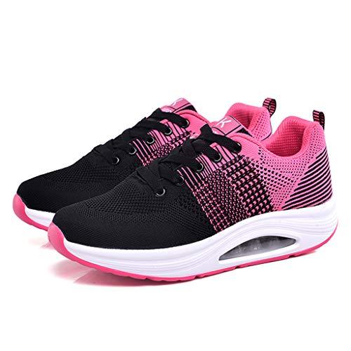 Con Tejidos Gimnasia Net Aire De Running Rosa Deporte 007 Mujer 35 41 Estudiante Logobeing Para Cojines Deportivas Calzado Zapatos Volar Zapatillas Sneakers qwtxgWacO