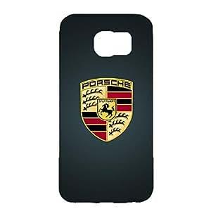 Classical Style Porsche Logo Phone Case 3D Cover Case for Samsung Galaxy S6 with luxury Porsche Flag Design