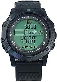 FCXJTU Professional Stopwatch Timer 1/10/100 Lap Split Memory Digital Stopwatch Timer Calendar Alarm, Pace Mod